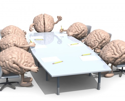 © FabioBerti Dreamstime.com - Many Human Brains Meeting Around The Table Photo dreamstime_m_44157164